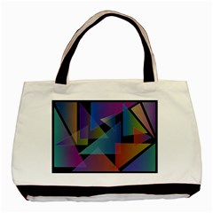 Triangle Gradient Abstract Geometry Basic Tote Bag