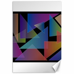 Triangle Gradient Abstract Geometry Canvas 12  X 18