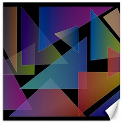 Triangle Gradient Abstract Geometry Canvas 16  X 16
