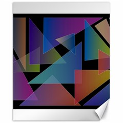 Triangle Gradient Abstract Geometry Canvas 16  X 20