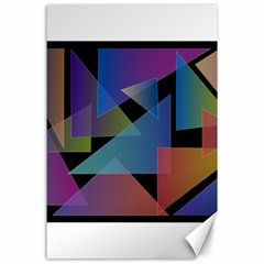 Triangle Gradient Abstract Geometry Canvas 24  X 36