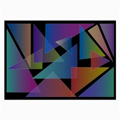 Triangle Gradient Abstract Geometry Large Glasses Cloth (2 Side)