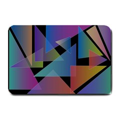 Triangle Gradient Abstract Geometry Plate Mats