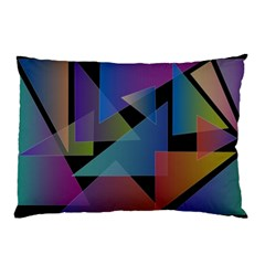 Triangle Gradient Abstract Geometry Pillow Case