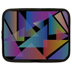 Triangle Gradient Abstract Geometry Netbook Case (xl)