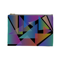 Triangle Gradient Abstract Geometry Cosmetic Bag (large)