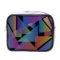 Triangle Gradient Abstract Geometry Mini Toiletries Bags