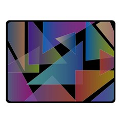 Triangle Gradient Abstract Geometry Fleece Blanket (small)