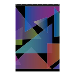 Triangle Gradient Abstract Geometry Shower Curtain 48  X 72  (small)