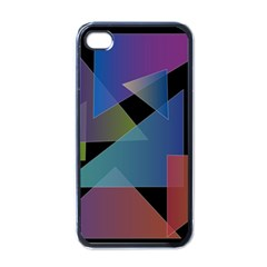 Triangle Gradient Abstract Geometry Apple Iphone 4 Case (black)