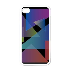 Triangle Gradient Abstract Geometry Apple Iphone 4 Case (white)
