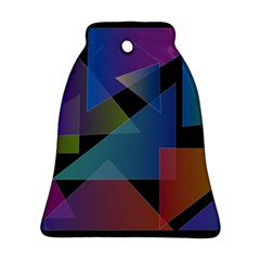Triangle Gradient Abstract Geometry Bell Ornament (two Sides)