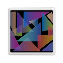 Triangle Gradient Abstract Geometry Memory Card Reader (square)