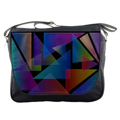 Triangle Gradient Abstract Geometry Messenger Bags