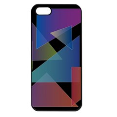 Triangle Gradient Abstract Geometry Apple Iphone 5 Seamless Case (black)
