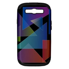 Triangle Gradient Abstract Geometry Samsung Galaxy S Iii Hardshell Case (pc+silicone)
