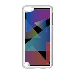 Triangle Gradient Abstract Geometry Apple Ipod Touch 5 Case (white)