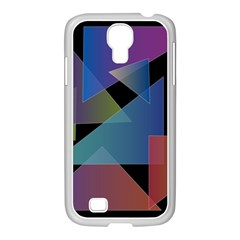 Triangle Gradient Abstract Geometry Samsung Galaxy S4 I9500/ I9505 Case (white)