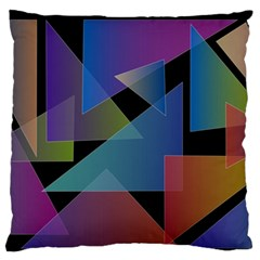 Triangle Gradient Abstract Geometry Standard Flano Cushion Case (two Sides)