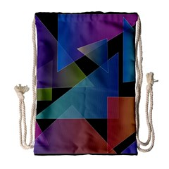 Triangle Gradient Abstract Geometry Drawstring Bag (large)