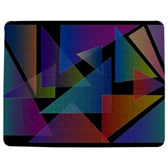 Triangle Gradient Abstract Geometry Jigsaw Puzzle Photo Stand (rectangular)