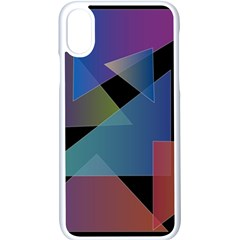 Triangle Gradient Abstract Geometry Apple Iphone X Seamless Case (white)