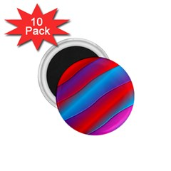 Diagonal Gradient Vivid Color 3d 1 75  Magnets (10 Pack)
