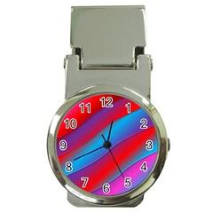 Diagonal Gradient Vivid Color 3d Money Clip Watches