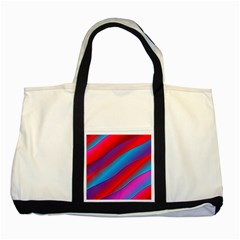 Diagonal Gradient Vivid Color 3d Two Tone Tote Bag