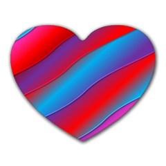 Diagonal Gradient Vivid Color 3d Heart Mousepads