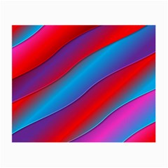 Diagonal Gradient Vivid Color 3d Small Glasses Cloth (2 Side)