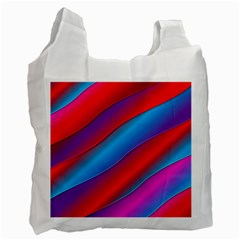 Diagonal Gradient Vivid Color 3d Recycle Bag (one Side)