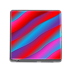 Diagonal Gradient Vivid Color 3d Memory Card Reader (square)