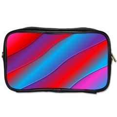 Diagonal Gradient Vivid Color 3d Toiletries Bags