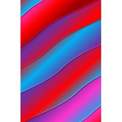 Diagonal Gradient Vivid Color 3d 5 5  X 8 5  Notebooks
