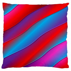 Diagonal Gradient Vivid Color 3d Large Cushion Case (one Side)