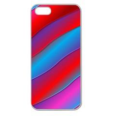 Diagonal Gradient Vivid Color 3d Apple Seamless Iphone 5 Case (clear)