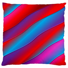 Diagonal Gradient Vivid Color 3d Large Flano Cushion Case (one Side)