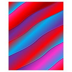 Diagonal Gradient Vivid Color 3d Drawstring Bag (small)