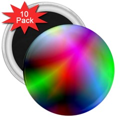 Course Gradient Background Color 3  Magnets (10 Pack)