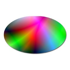 Course Gradient Background Color Oval Magnet