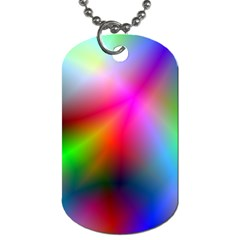 Course Gradient Background Color Dog Tag (one Side)