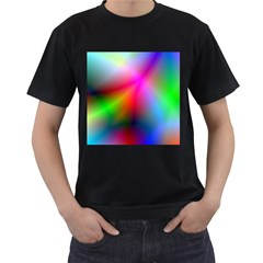 Course Gradient Background Color Men s T Shirt (black) (two Sided)