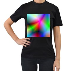 Course Gradient Background Color Women s T Shirt (black) (two Sided)
