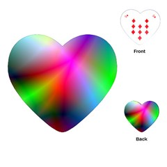 Course Gradient Background Color Playing Cards (heart)