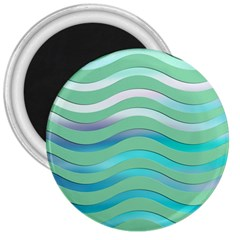 Abstract Digital Waves Background 3  Magnets