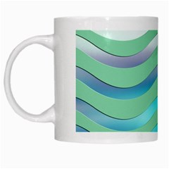 Abstract Digital Waves Background White Mugs