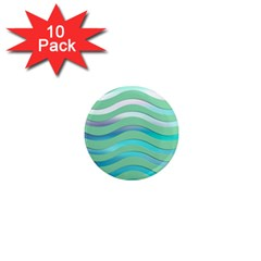Abstract Digital Waves Background 1  Mini Magnet (10 Pack)