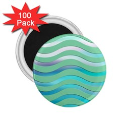Abstract Digital Waves Background 2 25  Magnets (100 Pack)