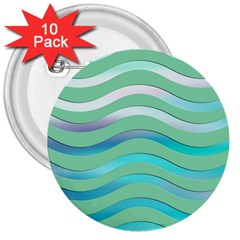 Abstract Digital Waves Background 3  Buttons (10 Pack)